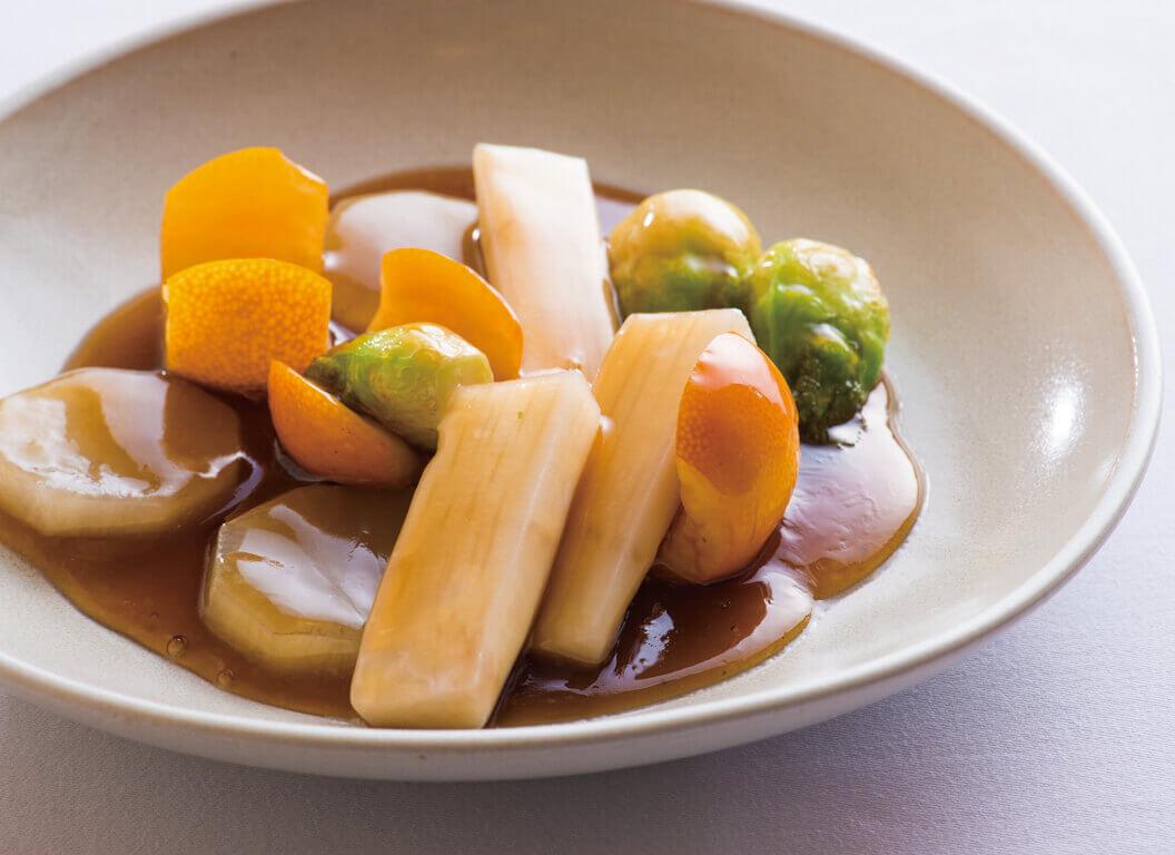 季節野菜の甘酢
