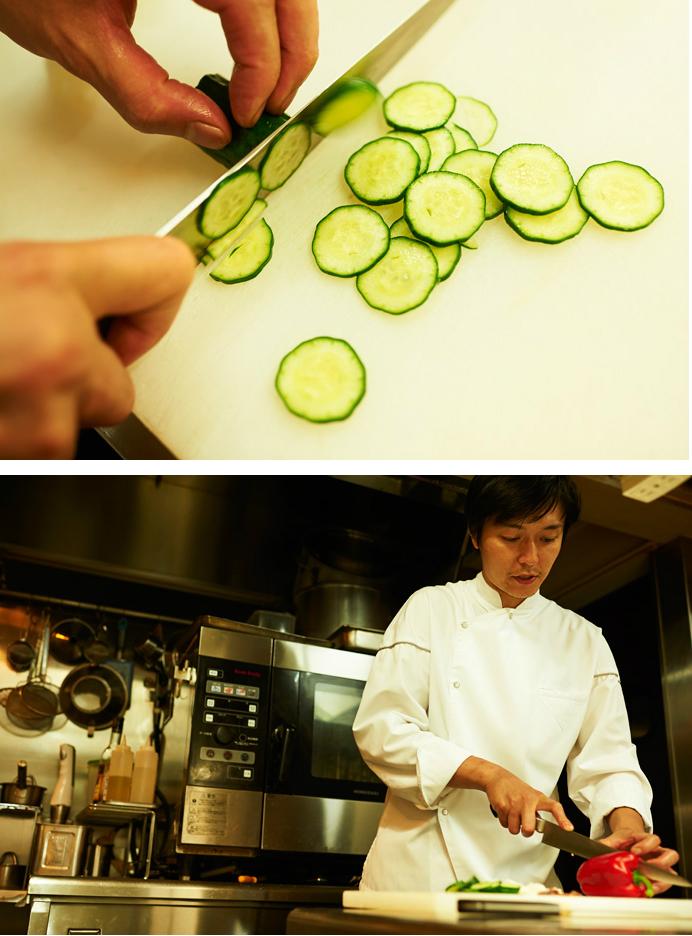将来のことを考えて高校は食物科へ。フランス料理のシェフになるという気持ちも固まった。