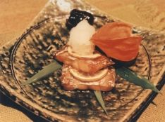 太刀魚のレモン焼き甘酢おろし添え