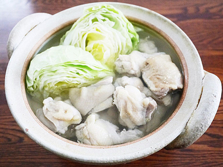 家庭でも出来る簡単レシピ鶏の水炊き