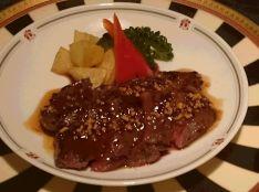 蝦夷鹿のステーキ 紹興酒ソース
