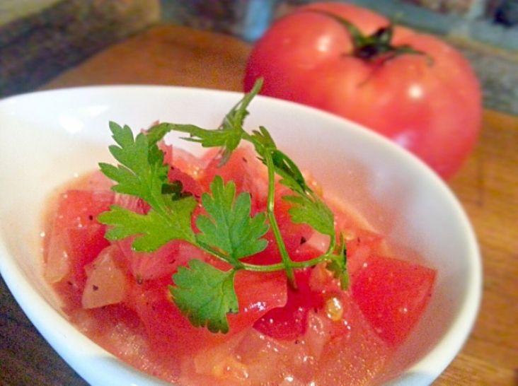 夏の爽やか調味料~トマト塩ダレ~