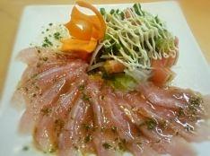 金目鯛のカルパッチョ ~わさポンソース~