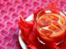 蘇鉄トマトジュース+有機豆乳で作る♪ノンアルコールカクテル