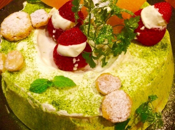 シフォンケーキ クリスマスバージョン