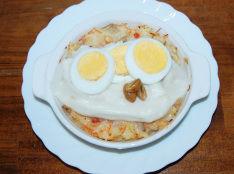 秋野菜&チキンの焼きリゾット