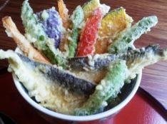 鮎と夏野菜天丼