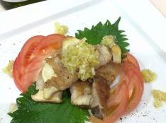 エリンギの豚巻き巻きステーキ あっさり葱ソース