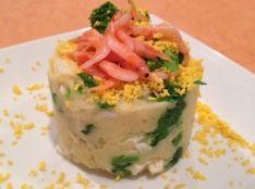 新じゃがいもと桜エビの菜の花サラダ