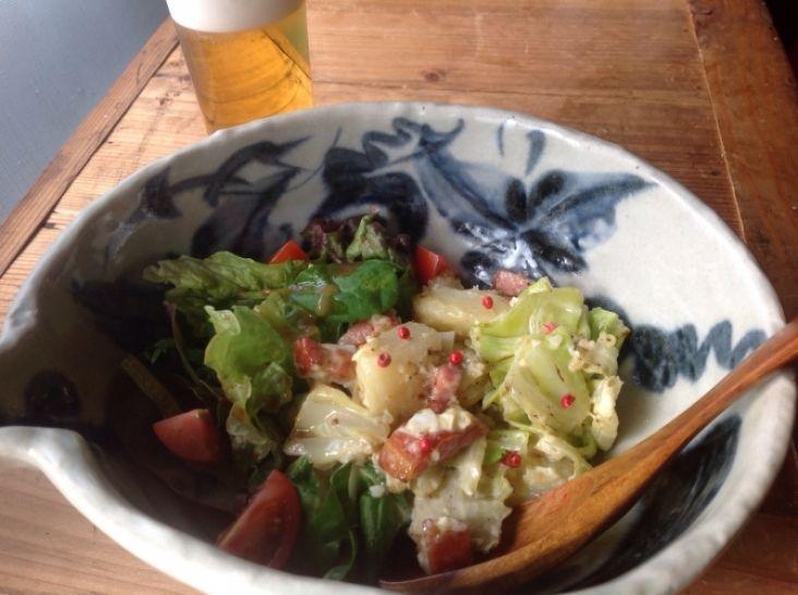 春キャベツの焼きポテトサラダ