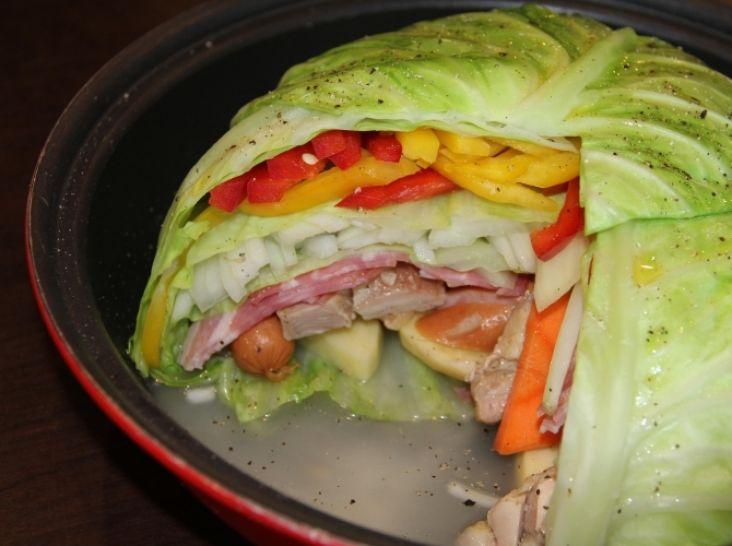 タジン鍋で作るミルフィーユポトフ