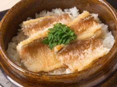 紅王(甘鯛干物)の炊き込みご飯