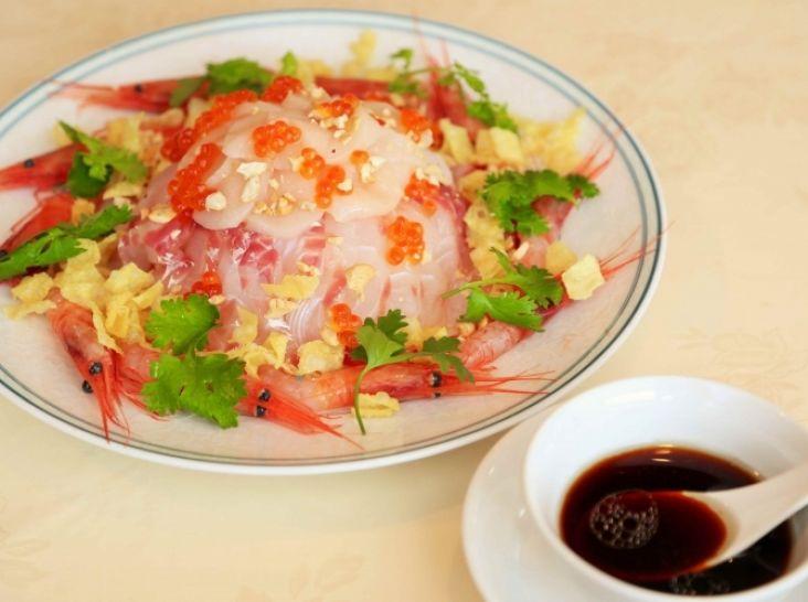 沙律生魚片 (中華の刺身)