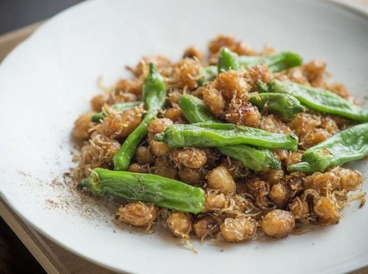 大豆とじゃこの甘辛炒め 山椒の香り
