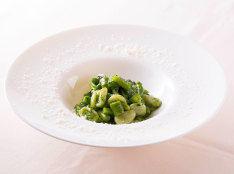 季節のグリーン野菜のオレキエッテ