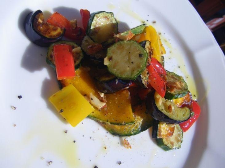 常温で食べる焼き野菜のサラダ