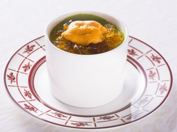 翡翠の冷やし茶碗蒸し