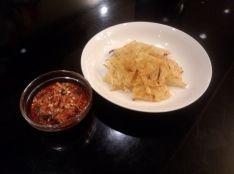 ジャガイモパリッと焼き キムチディップ