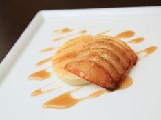 焼きリンゴとメイプルシロップのクランペット