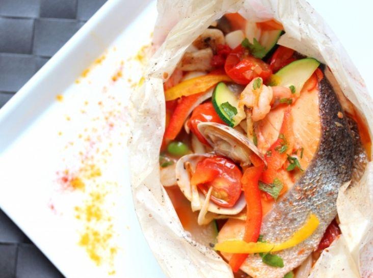 調味料要らずでとっても簡単!紅鮭と夏野菜の紙包み焼き