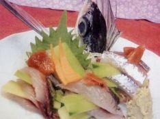 飛魚と胡瓜の梅造り
