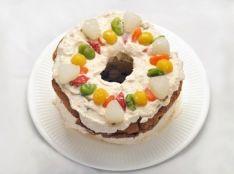 大麦シフォンケーキのよそいきデザート