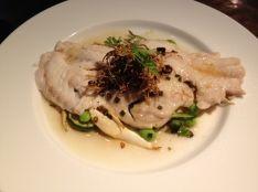 白身魚のセイロ蒸し 生姜オイルかけ 中国風