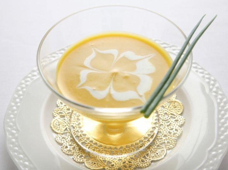 かぼちゃの冷製クリームスープ