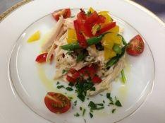鳥ムネ肉のボイルとお野菜のサラダ