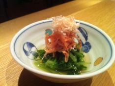 桜えびと水菜のお浸し