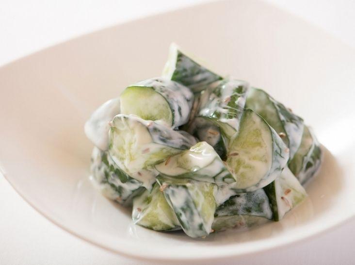 きゅうりのヨーグルト和え クミン風味