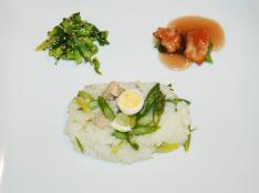 アスパラガス&チキンの春ライス