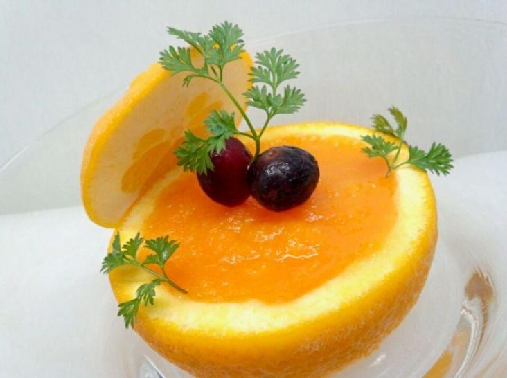 オレンジと人参のライム風味シャーベット