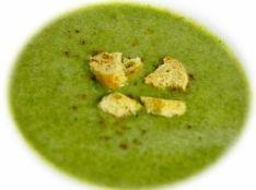 法蓮草の温製クリームスープ