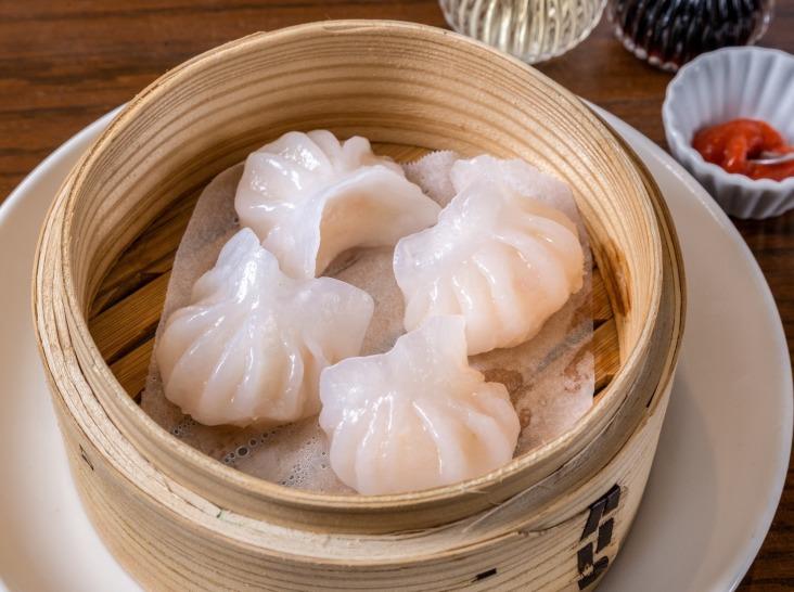 玻璃蒸蝦餃(広東風 海老蒸し餃子)