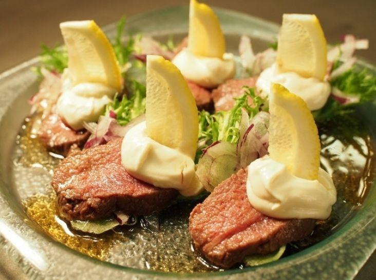 鹿肉の甘酢すりおろし煮~チーズレモン~