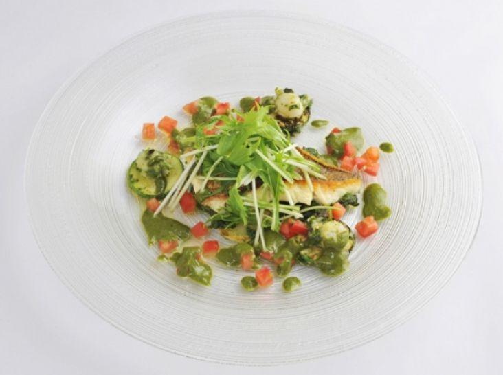 鮮魚とポテトのソテージェノべーゼあえインパデッラ