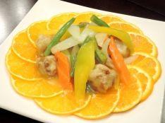 野菜たっぷり!デコポン酢豚