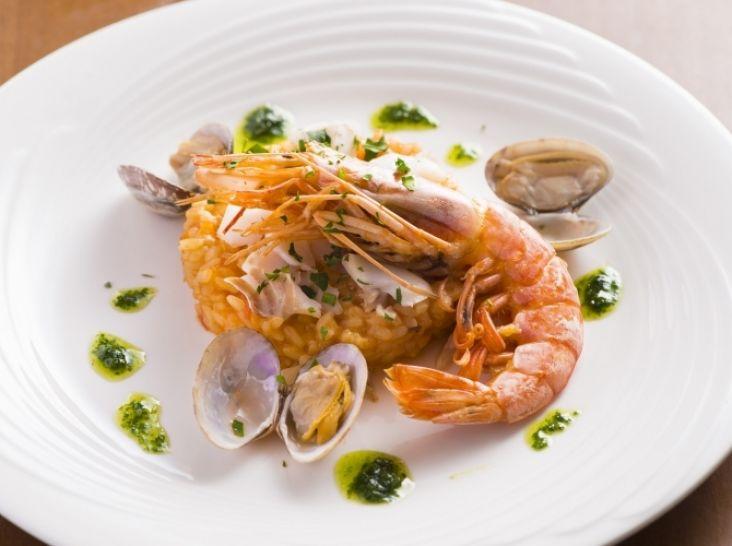 スペイン風魚介のリゾット アロス カルドッソ デ マリネラ