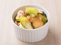 新じゃがいもと桜海老の味噌マヨネーズ焼
