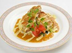 若鶏のソテーガーリック ミソバターソース