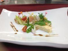 季節の野菜とタルタル。ピンチョススタイル