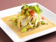 山クラゲと彩り野菜の醤油マスタード和え