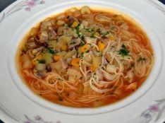 島原手延べそうめんを使ったフランス風野菜スープ