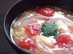トマトと溶きたまごのスープ