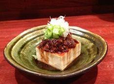 黒豚ねぎ味噌辣油豆腐