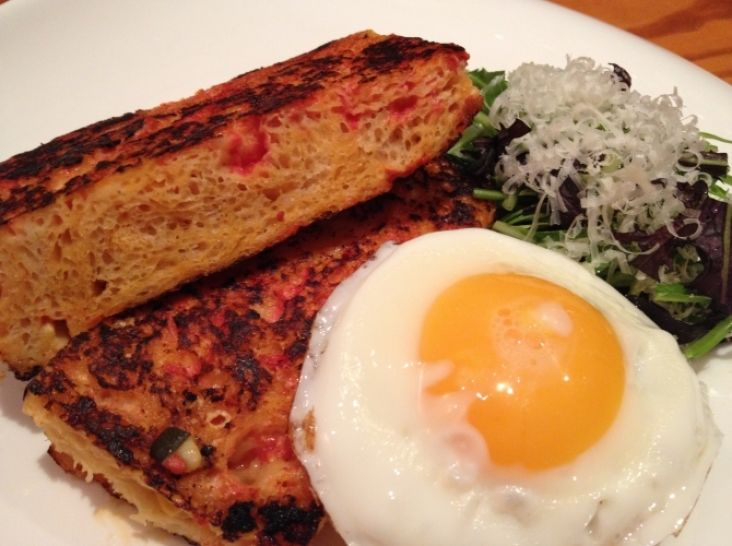 朝食に!野菜たっぷりカポナータパン☆フレンチトースト風