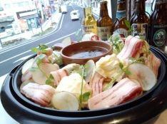 イベリコ豚のドイツ風焼きしゃぶ ビールとフォンドボーの香草風