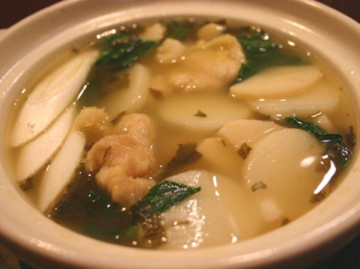 中華餅のあっさりスープ