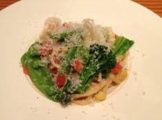 春野菜と新タマネギのカルボナーラ風